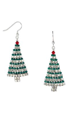 Earrings with Seed Beads and SWAROVSKI ELEMENTS - Fire Mountain Gems and Beads