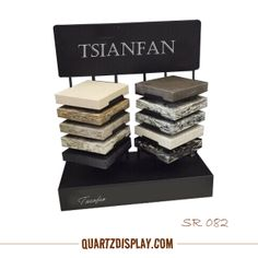 SR082 Quartz Stone Tabletop Stand Xiamen Tsianfan Stone Display Industrail & Trade Co., Ltd. Supply quartz stone, granite , marble , mosaic tile display stand, display showcase, display books and so on. More detail: www.quartsdisplay... E: kate@tsianfan.com kate@chndisplay.com T: 0086 139 5026 5490