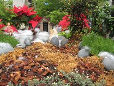 Christmas Fairy Gardens: Mulch and More