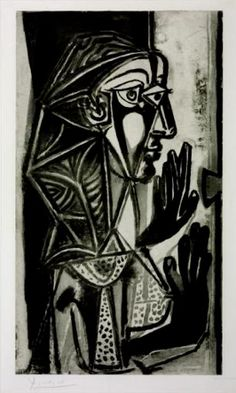 Pablo Picasso Woman at the Window 1952 aquatint and drypoint on paper 90 x 64cms