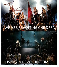 The Barricade boys to the words of Revolting children. This hurts.