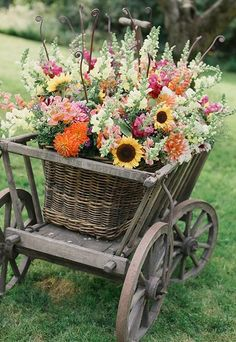 Old Wooden Wagon.full of flowers. Container Plants, Container Gardening, Vegetable Gardening, Succulent Containers, Container Flowers, Dream Garden, Garden Art, Garden Cottage, Jardin Decor