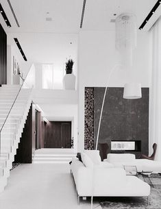 Minimalist Living Room Ideas - Locate your favored Minimal living room pictures below. Browse through pictures of motivating Minimalist living room layout concepts to create your ideal residence. Chic Living Room, Small Living Rooms, Living Room Designs, Living Spaces, Interior Exterior, Interior Architecture, Interior Design, Home Modern, Minimalist Living
