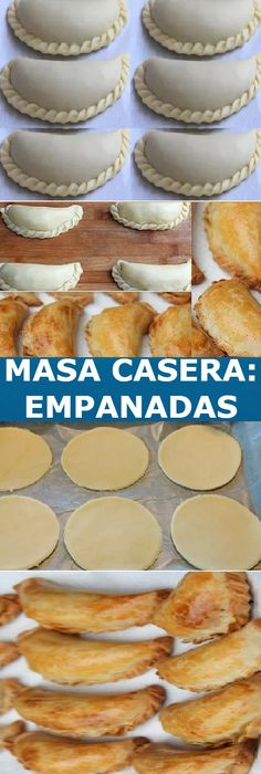 MASS: for Baked Empanadas easy recipe to prepare, If you like tell us HELLO and give Like Like LOOK… Mexican Dinner Recipes, Barbecue Recipes, Mexican Dishes, Mexican Food Recipes, Baked Empanadas, Latin Food, Smoothie Recipes, Appetizers For Party, Food To Make