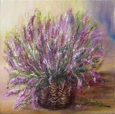Wrzosy - Maria Roszkowska - obraz olejny