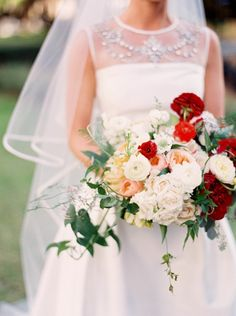 From white to red: http://www.stylemepretty.com/texas-weddings/dallas/2015/04/15/colorful-garden-soiree/   Photography: Sarah Kate - http://sarahkatephoto.com/