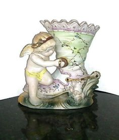 Porcelain Vase made in Japan Angel Cowboy Boot by RayMels on Etsy