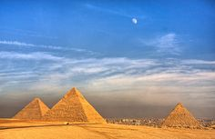 The Moon over the Pyramids