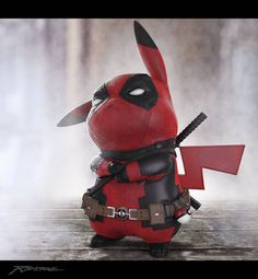Pikachu is Deadpool #arttoy #parody