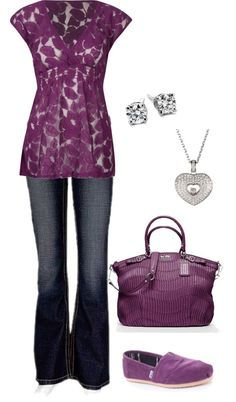 Pretty in Purple. Love this outfit! I would wear it!