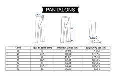 Guide Taille Chinos