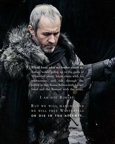 (GoT) + (Stannis) + (I actually really like him this season, which means he's probably gonna die)