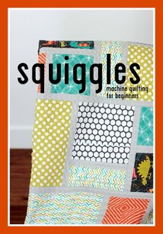 very easy squiggly machine quilting design, no free motion action, walking foot, or extension table needed | VanillaJoy.com