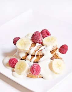 Pancakes banane et flocons d'avoine (sans sucre, sans gluten, vegan)