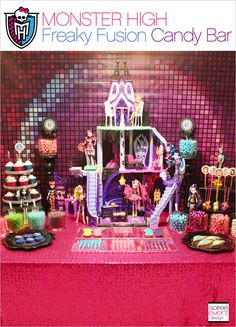 Monster High Party - Freaky Fusion Candy Bar NEW ON MY BLOG:  Monster High's Freaky Fusion Candy Buffet by SoireeEventDesign.com #MonsterHigh #FreakyFusion