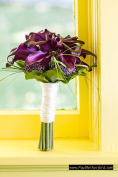 webers floral and design wedding bouquet purple Mackinac Island Do It Yourself Wedding planning Photography | Ste Annes Church | City Community Hall photo