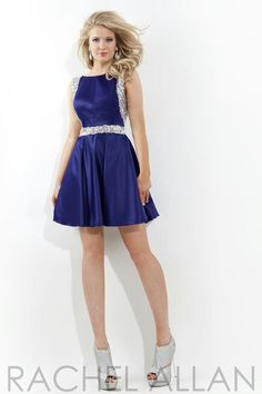 Rachel Allan 2806 - $238.00. Beautifully beaded short dress