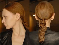 Hairstyle #runway #fashion