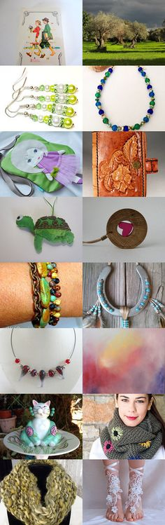 Springtime colors by 1 Agape Team by Wirednstrung on Etsy--Pinned with TreasuryPin.com