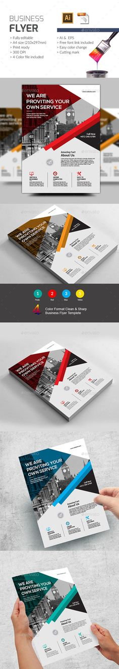 Business Flyer — Vector EPS #promotion #free font • Available here → https://graphicriver.net/item/business-flyer/19292337?ref=pxcr