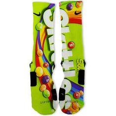 Sour Skittles Custom Nike Elite Socks – Fresh Elites