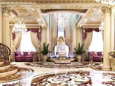 Professional Living Room Interior Designs in Qatar by Antonovich