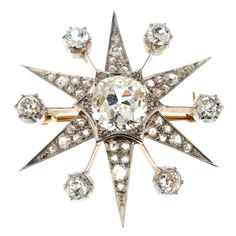 Antique Star Brooch
