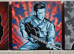 Elvis Presley art by DILLON