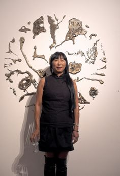 Artists Portrait, Lindy Lee, One Billion Worlds - Roslyn Oxley9 Gallery 2012. Photo by Kent Johnson.
