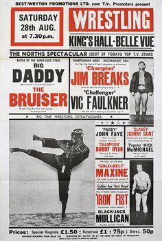 Wrestling Poster, belle vue - 1976 via Flickr