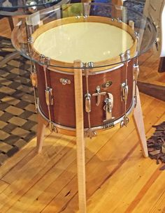 Repurposed Snare Drum Table by FourthandTrade on Etsy