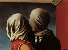 El preludio de un beso  Pintura de Rene Magritte