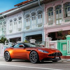 At a recent event in Singapore we celebrated the vibrant array of colours and local culture on display with a little help from the newly unveiled Aston Martin DB11. #astonmartinlive #astonmartin #db11 #singapore #luxury #cars by astonmartinlagonda