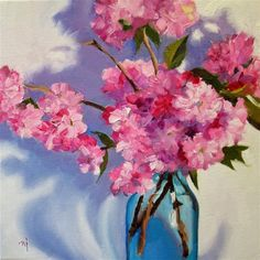 "Daily Paintworks - ""Cherry Blossoms, Maybe"" by Nel Jansen"