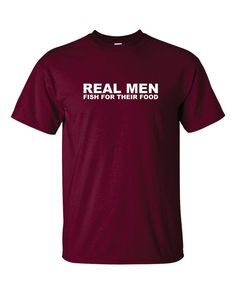Fishing Gifts REAL MEN FISH For Their Food T shirt Fly Fishing Dad Shirt Gifts For Men Fishing Stuff Fisherman Fathers Day Gift Christmas.