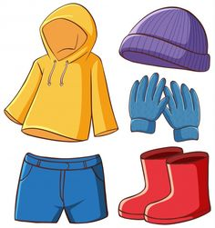 Isolated set of clothes | Free Vector #Freepik #freevector #winter #fashion #cartoon #clothes