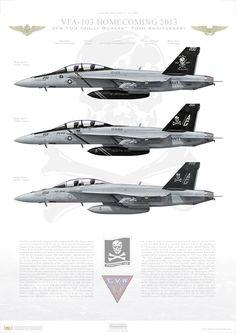 VFA-103 Jolly Rogers Strike Fighter Squadron One-Zero-Three ...
