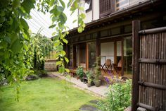 Japanese influenced home and garden