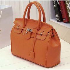 Solid Medium Hard PU Leather Handbags with Cell Phone Pocket Interior   Stylish Beth