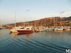 Barche ormeggiate al porto di Tropea