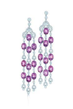 GABRIELLE'S AMAZING FANTASY CLOSET | sunghee kim jewel - Diamond & Ruby Chandelier Earrings