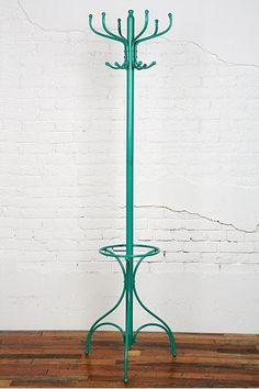 Scavenger:  Modern Coat Rack / Hat Stand from Urban Outfitters - Turquoise for $34     San Francisco-I wish this was black!!