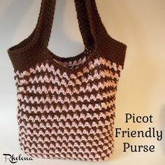 Picot Friendly Purse ~ FREE Crochet Pattern