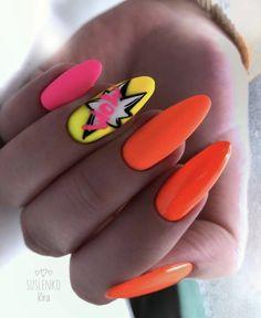 Neon Nails, Beautiful Nail Designs, Manicure, Nail Art, Beauty, Daughter, Long Nails, Manicure Ideas, Nail Bar