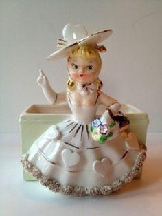 Vintage 1956 RELPO Valentine Girl Planter