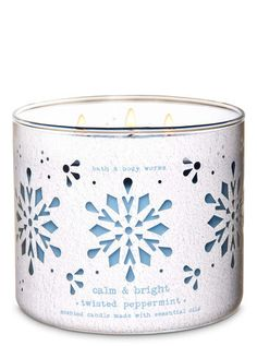 Fill your home with exclusive Bath & Body Works scents. Shop candles, Wallflowers plugs and refills, concentrated room sprays and more. Bath Candles, 3 Wick Candles, Scented Candles, Bath Body Works, Bath And Bodyworks, Christmas Candles, Home Fragrances, Smell Good, Peppermint