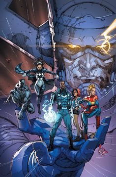 The Ultimates #1 by Kenneth Rocafort and colours by Edgar Delgado *
