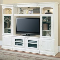 Modern Traditional Wall Unit, Love How Itu0027s Styled, No Clutter