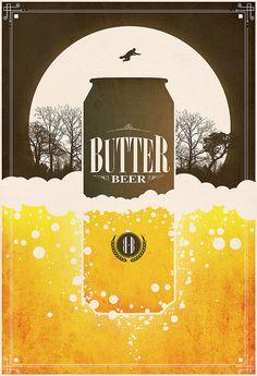 butter beer poster by justin van genderen