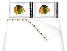 ATHLEZ - Chicago Blackhawks Micro Fiber Sheet Set Queen